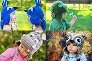 Crochet animal hats for babies,  kids,  teens and adults