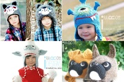 Handmade Crochet animal Hats